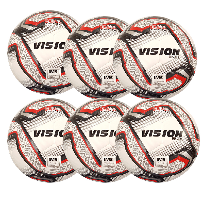Fotboll Vision Mission 5, Storpack 6 st, IMS