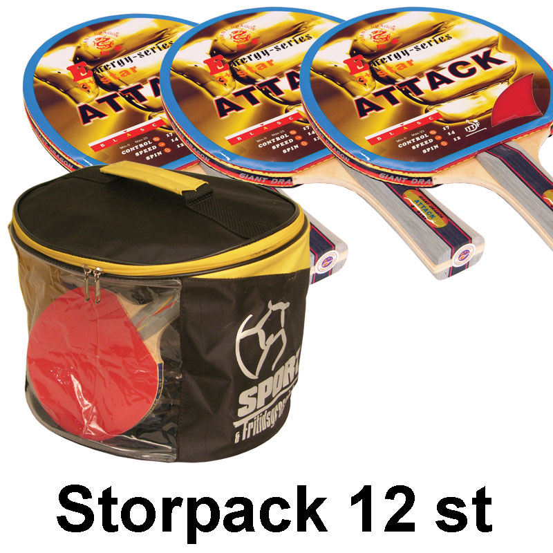 Bordtennisracket Energy-Attack ***, Storpack 12 st