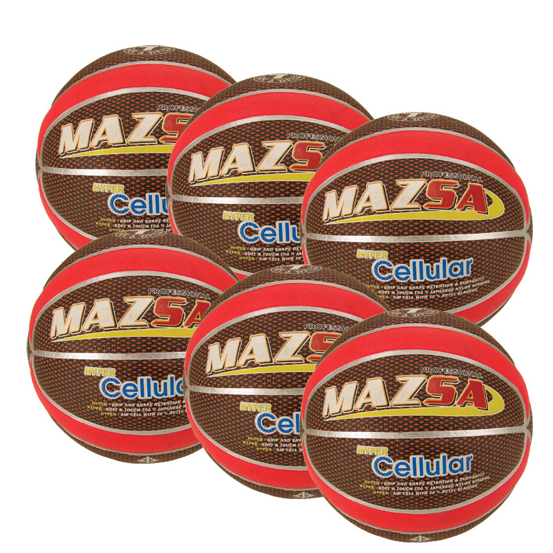 Basketboll Mazsa Cellular 5, Storpack 6 st