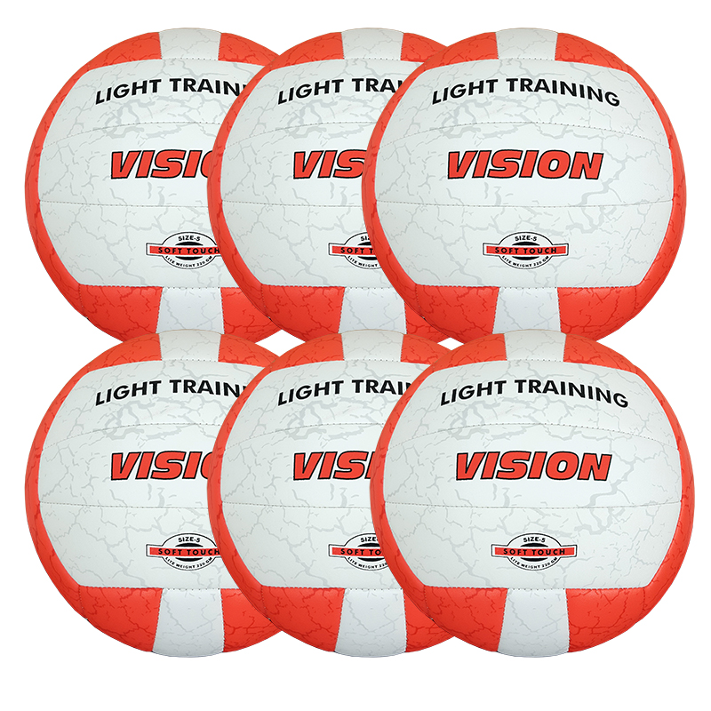 Volleyboll Vision Light training, Storpack 6 st