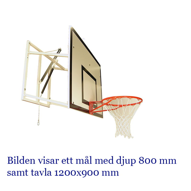 Basketmål, Gasfjäder, Dj. 1200 mm, 1800x1050 mm