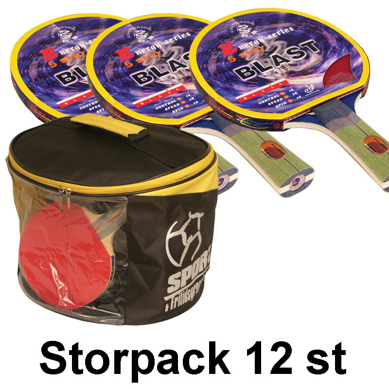Bordtennisracket Energy-Blast *****, Storpack 12 st