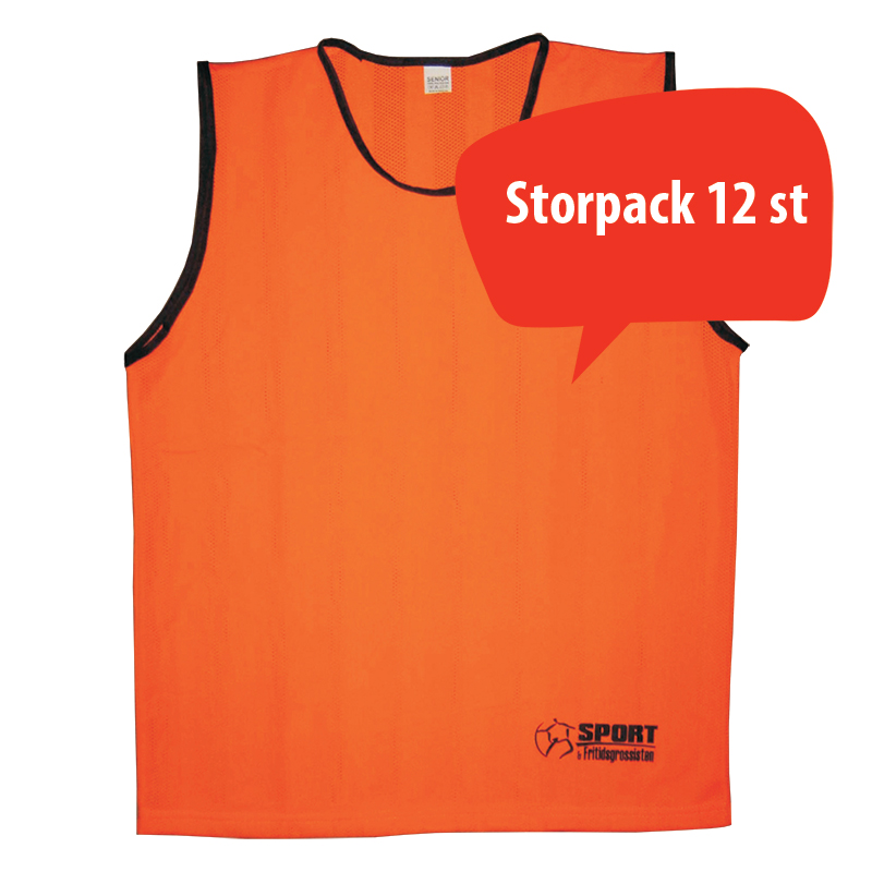 Lagväst CLUB Minior, Orange, Storpack 12 st